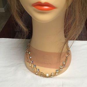 "Nordstrom 1980's 36"" Austrian crystal necklace"
